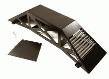 Realistic Heavy-Duty Metal Display Ramp 375x100x75mm for 1/10 Scale Off-Road