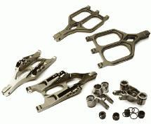 Billet Machined Front Suspension Set for 1/10 T-Maxx/E-Maxx 3903/5/8, 4907/8
