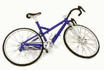 Realistic Alloy Machined Road Bicycle for 1/10 Size R/C Model