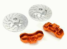 Realistic Alloy Front Brake Disc (2) for Traxxas 1/10 4-Tec 2.0
