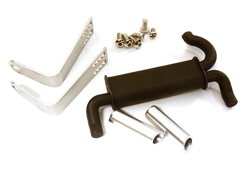 Realistic Rear Mount Exhaust System for Traxxas 1/10 TRX-4
