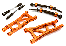 Billet Extended Rear Suspension Kit+Drive Shafts for Traxxas 1/10 Slash 2WD