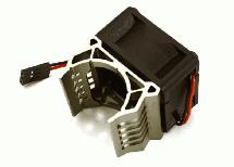 Brushless Motor Heatsink+40x40mm Cooling Fan 17k rpm for 1/16 E-Revo & Slash VXL