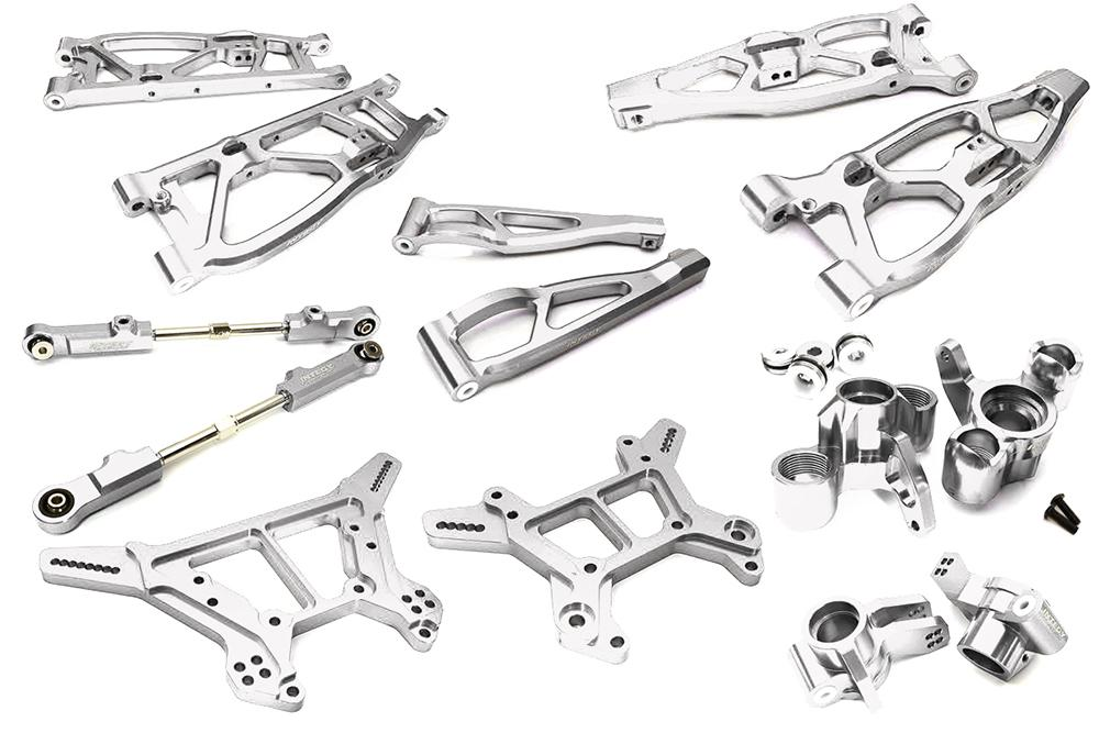 C28812SILVER R//C Billet Machined Front Chassis Brace for Arrma 1//8 Kraton 6S BLX