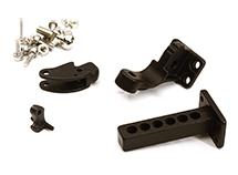 Rear Bumper Receiving Hitch w/ Ball Mount & Pintle Hook Combo for Traxxas TRX-4