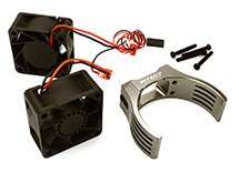 Billet Machined Motor Heatsink & Cooling Fans for Losi 1/5 Desert Buggy XL-E