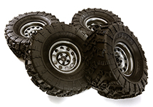Metal Alloy 2.2 Size Wheel & Tire Set (4) for 1/10 Off-Road O.D. 131mm
