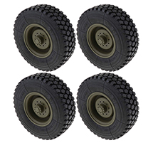 Tire & Wheels (2) for HG-P801 8X8 RC Military Truck