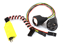 Dual Color 4 LED Front Headlight for 1/10 Scale Crawler (5 Modes-Ch3 Control)