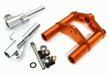 Billet Machined Front Fork Upgrade Set for Tamiya T3-01 Dancing Rider