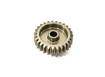 Billet Machined Mod 0.6 Pinion Gear 27T, 3.17mm Bore/Shaft for Brushless R/C