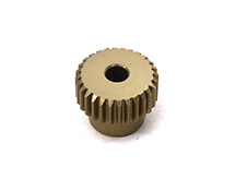 Billet Machined 64 Pitch Pinion Gear 28T, 3.17mm Bore/Shaft for Brushless R/C