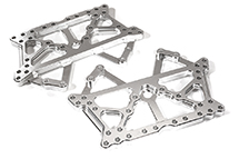 Billet Machined Alloy Main Chassis Side Plates for Tamiya CR-01