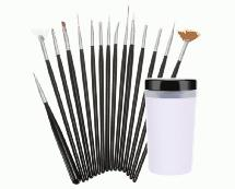 15pcs Assorted Model Paint Brush Set with Wash Container