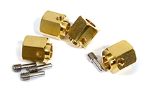 12mm Hex Wheel (4) Hub Brass 13mm Thick for Traxxas TRX-4 Scale & Trail Crawler