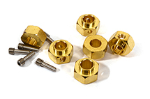 12mm Hex Wheel (6) Hub Brass 8mm Thick for Traxxas TRX-6 Scale & Trail Crawler