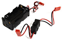Battery Box 4 Cells w/On/Off Switch, AA Size for Charging, RX, LED & Cooling Fan