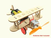 Wooden DIY Education Battery Powered Toy Plane Model
