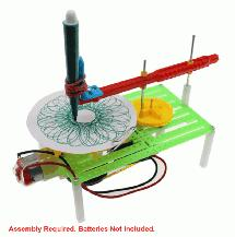 Plastic DIY Education Battery Powered Automatic Pattern Drawing Machine