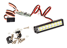 White LED Light Bar 54mm On/Off/Flash w/ 3 Modes for Traxxas, Axial & Tamiya RC