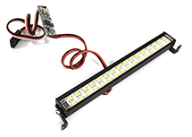 White LED Light Bar 102mm On/Off/Flash w/ 3 Modes for Traxxas, Axial & Tamiya RC
