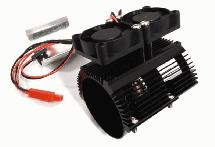 Motor Heatsink+Twin Cooling Fan for Traxxas Summit & E-Revo (Motor: 41-43mm OD)