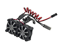 Alloy Mount + Thermo Controlled Twin Cooling Fan for Motor 36mm O.D.