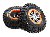 2.2 Size Dual 6 Spoke Beadlock Wheel & Tire Set (2) for 1/10 Off-Road O.D. 115mm
