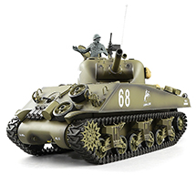 1/16 Scale U.S.A. M4A3 Sherman Tank, 2.4GHz Remote Control Model HL3898-1 6.0