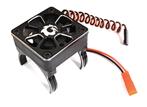 Alloy Motor Mount + 40x40mm Cooling Fan for 1/10 Scale (Motor: 36mm O.D.)