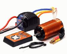 SPECS 4074 Brushless 2200Kv Sensored, 2S-4S ESC 135A for E-Maxx, E-Revo & 1/8