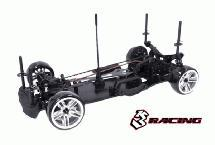 3RACING Sakura D4 Sport Black Edition 1/10 Drift Car Kit (AWD)