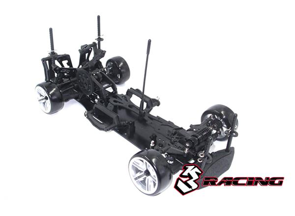 3RACING Sakura D4 Sport Black Edition 1/10 Drift Car Kit (RWD)