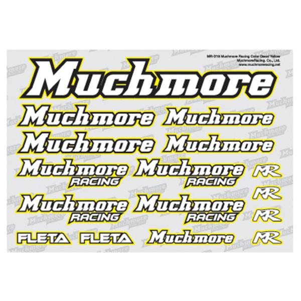 Muchmore Racing Muchmore Racing Color Decal Yellow