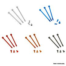 Muchmore Racing FLETA ZX V2 Case & Timing cap Aluminum Screws Orange 6pcs