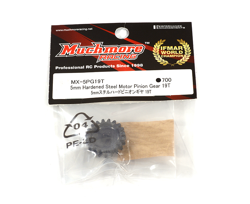 Muchmore Racing 5mm Hardened Steel Motor Pinion Gear 19T