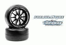 Volante F1 Front Rubber Slick Tires Hard Compound Preglued