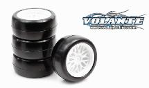 Volante Mini 30R Rubber Slick Tire Pre-glued 4pcs (0 Offset)