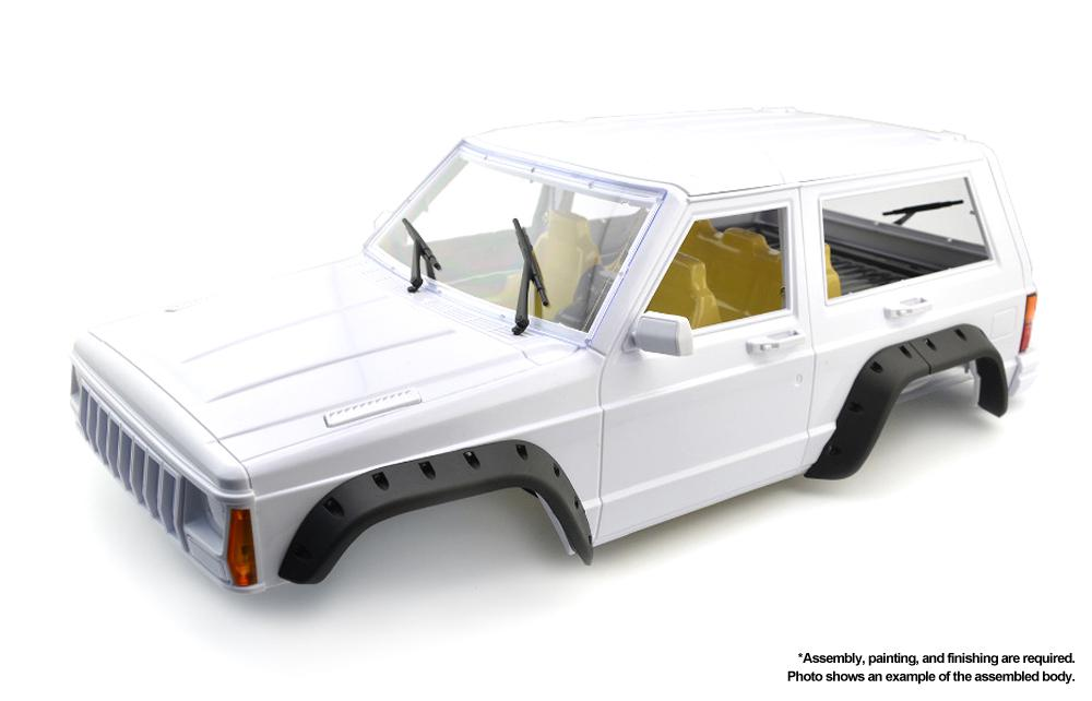 Hard Plastic Scale XJ Sport Coupe Body Kit for 1/10 Off-Road Crawler WB=275mm
