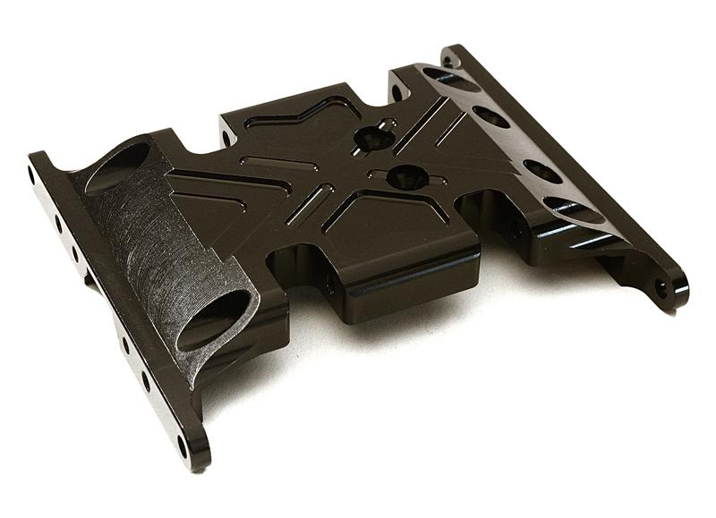 CNC Machined Center Gear Box Mount Skid Plate for Axial 1/10 SCX-10 Crawler