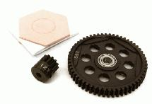 Steel Spur Gear 56T & Pinion Gear 12T Set for Axial 1/10 RR10 Bomber