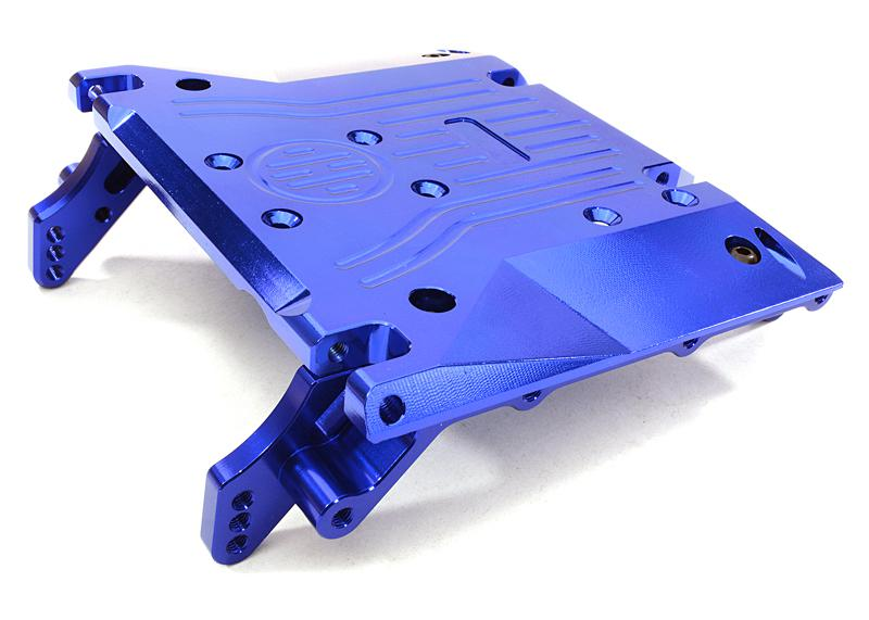 CNC Machined Alloy Center Skid Plate for Axial 1/10 RR10 Bomber