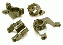 CNC Machined Alloy Steering Blocks & Caster Blocks for Axial 1/10 SCX-10