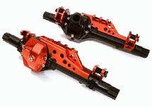 CNC Alloy Front & Rear Axle Housing Outer Cases for Axial 1/10 RR10 Bomber 4WD