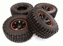 Composite 6 Spoke Off-Road 1.9 Size Wheel & Tire (4)  (O.D.=102mm)