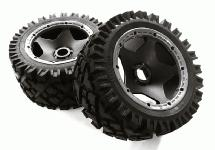 Type 66041-220 Rear Wheel & Tire Set (2) for HPI 1/5 Baja 5B & 5B2.0