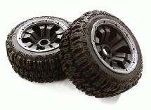Type 66069-210 Rear Wheel & Tire Set (2) for HPI 1/5 Baja 5B & 5B2.0