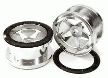 CNC Machined 5 Spoke Beadlock 2.2 Wheels (2) for Axial Ridgecrest & Wraith 2.2