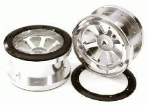 CNC Machined 8 Spoke Beadlock 2.2 Wheels (2) for Axial Ridgecrest & Wraith 2.2