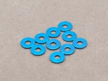 3x7.8x0.75mm Aluminium Shim (Light Blue 10 Pcs)